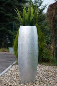 Eigenentwicklung Pflanzgefäß Magnum in Silber Hochglanz
