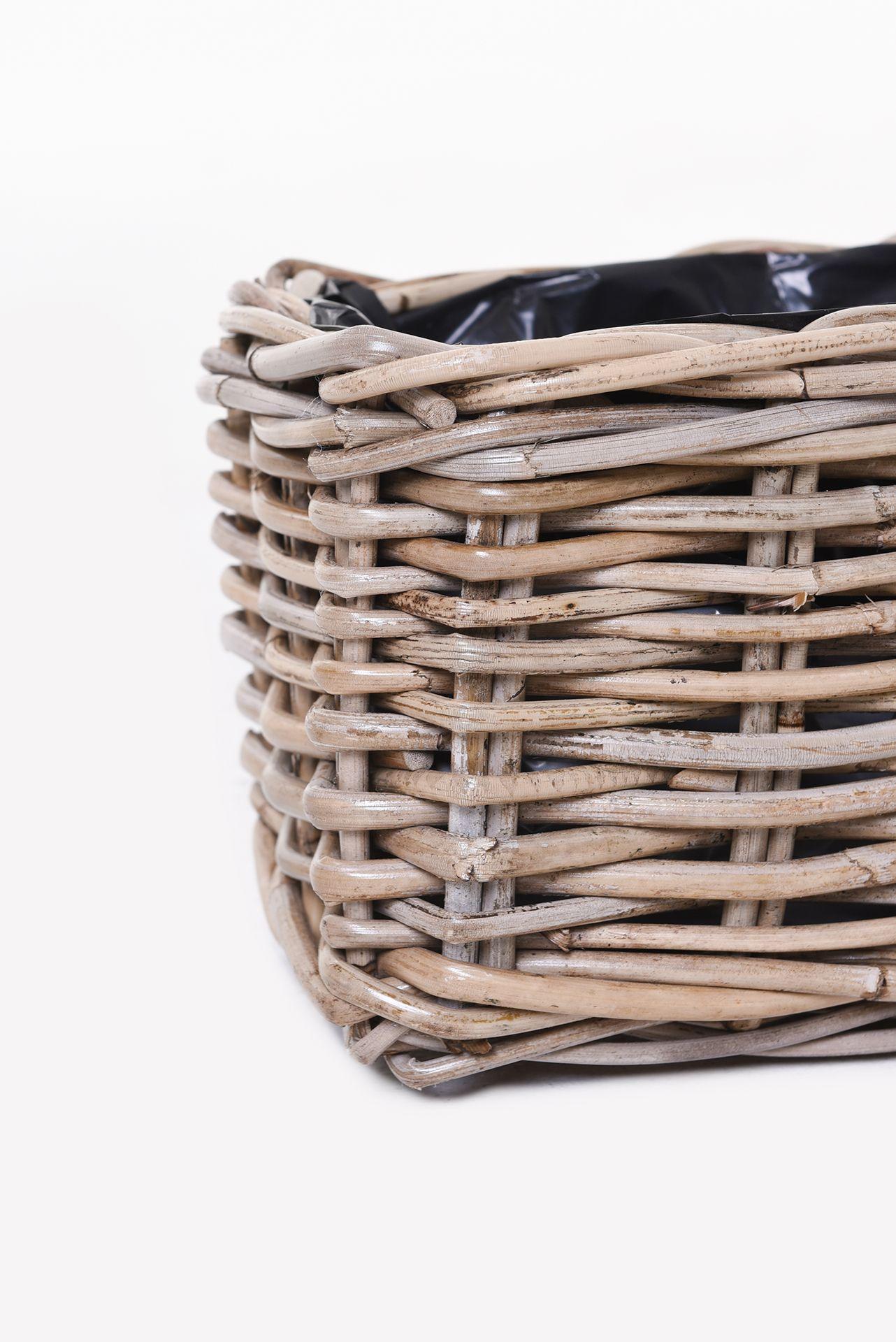 blumenkasten fensterbankkasten pflanzkasten rattan pianta 80 cm koobo grey ebay. Black Bedroom Furniture Sets. Home Design Ideas