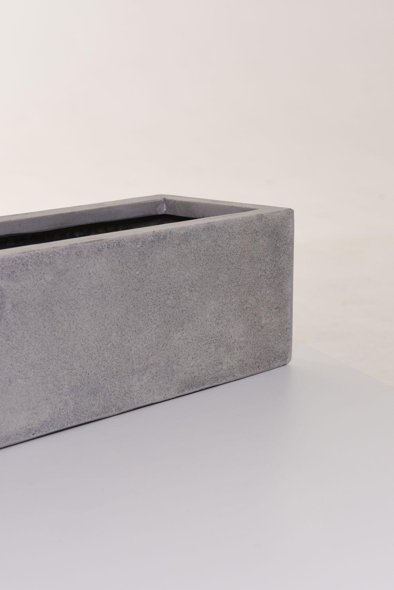 blumenkasten pflanzkasten fiberglas beton design flobo 100 cm grau ebay. Black Bedroom Furniture Sets. Home Design Ideas