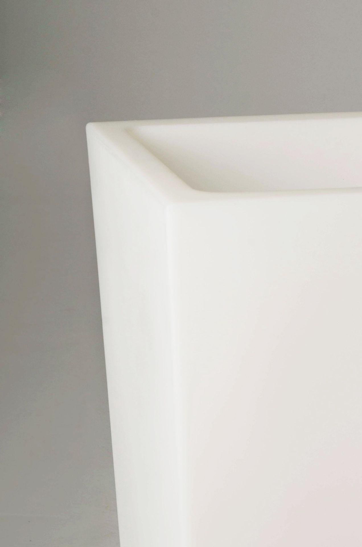 pflanzk bel blumenk bel classic kunststoff beleuchtet 90 cm wei ebay. Black Bedroom Furniture Sets. Home Design Ideas