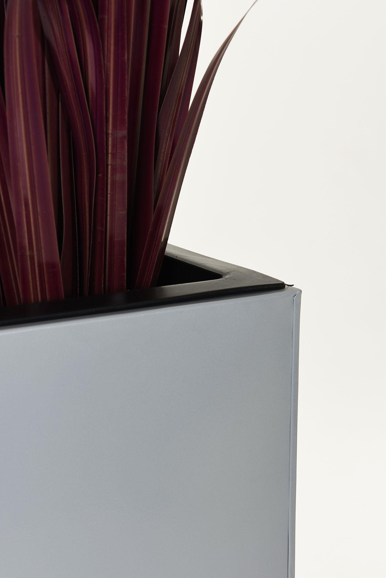 pflanzk bel block 100 cm pulverbeschichtetes stahlblech bew sserungsset grau ebay. Black Bedroom Furniture Sets. Home Design Ideas