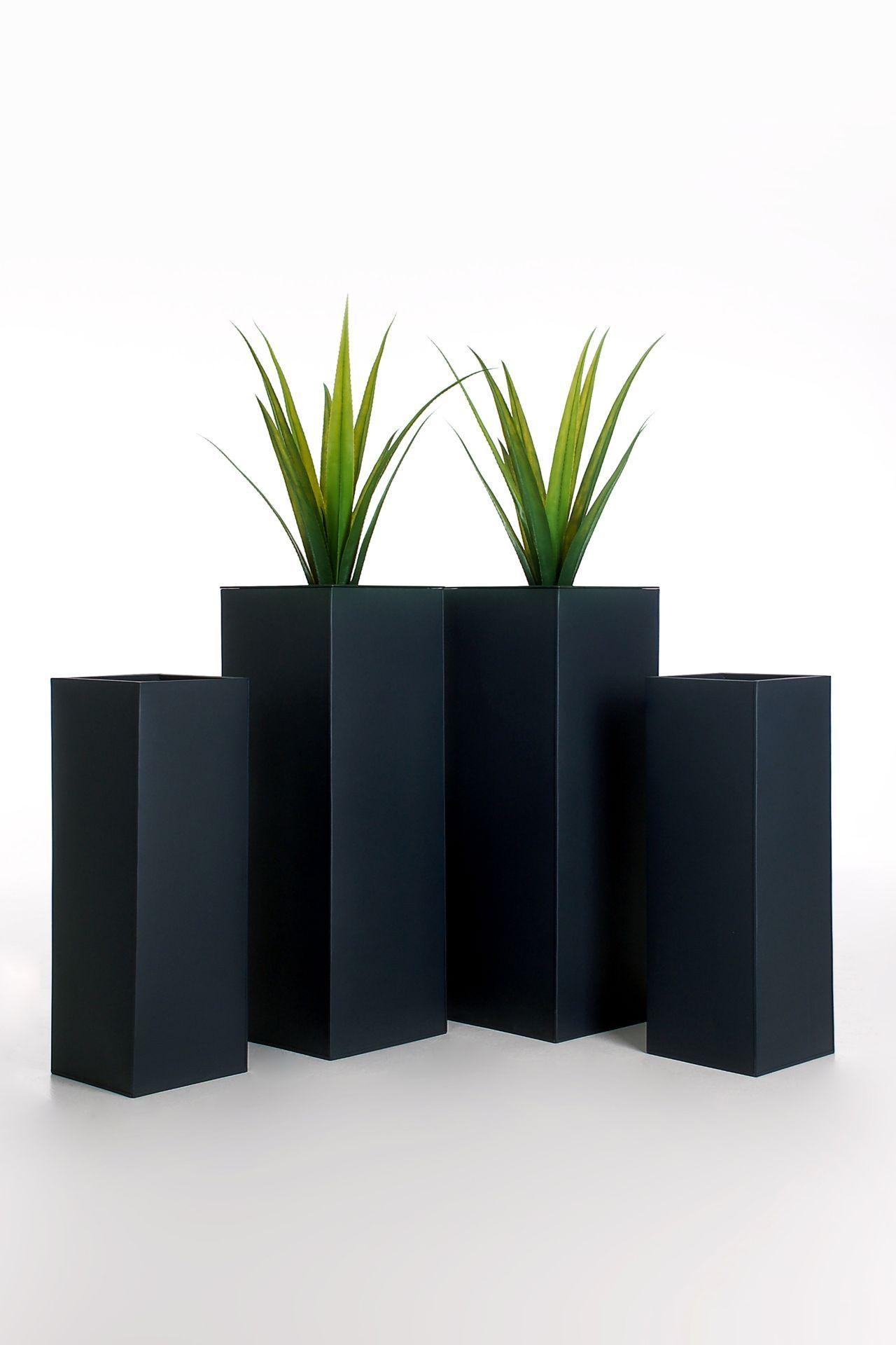 blumenk bel pflanzk bel pflanzgef e aus fiberglas block weiss 50x50x50cm schortens. Black Bedroom Furniture Sets. Home Design Ideas