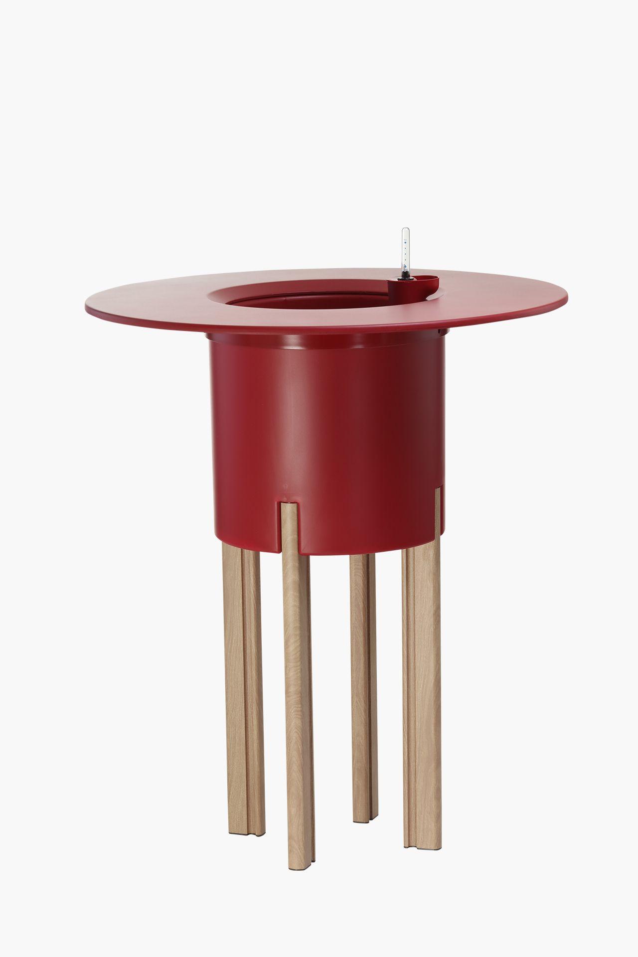 pflanzk bel tischplatte kunststoff rund mondum tondo 80 cm rot ebay. Black Bedroom Furniture Sets. Home Design Ideas