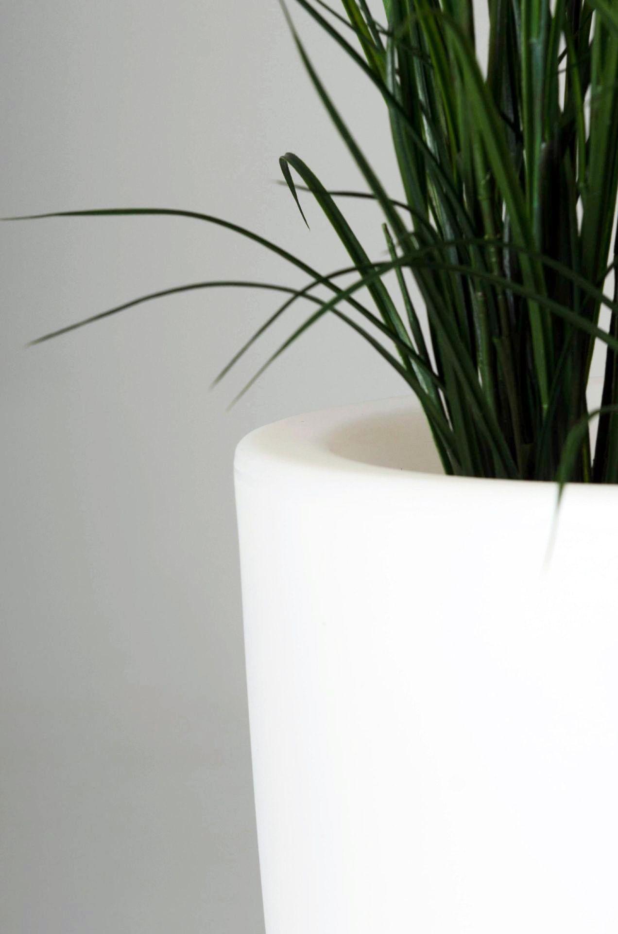 pflanzk bel blumenk bel city aus kunststoff beleuchtet 90 cm wei ebay. Black Bedroom Furniture Sets. Home Design Ideas