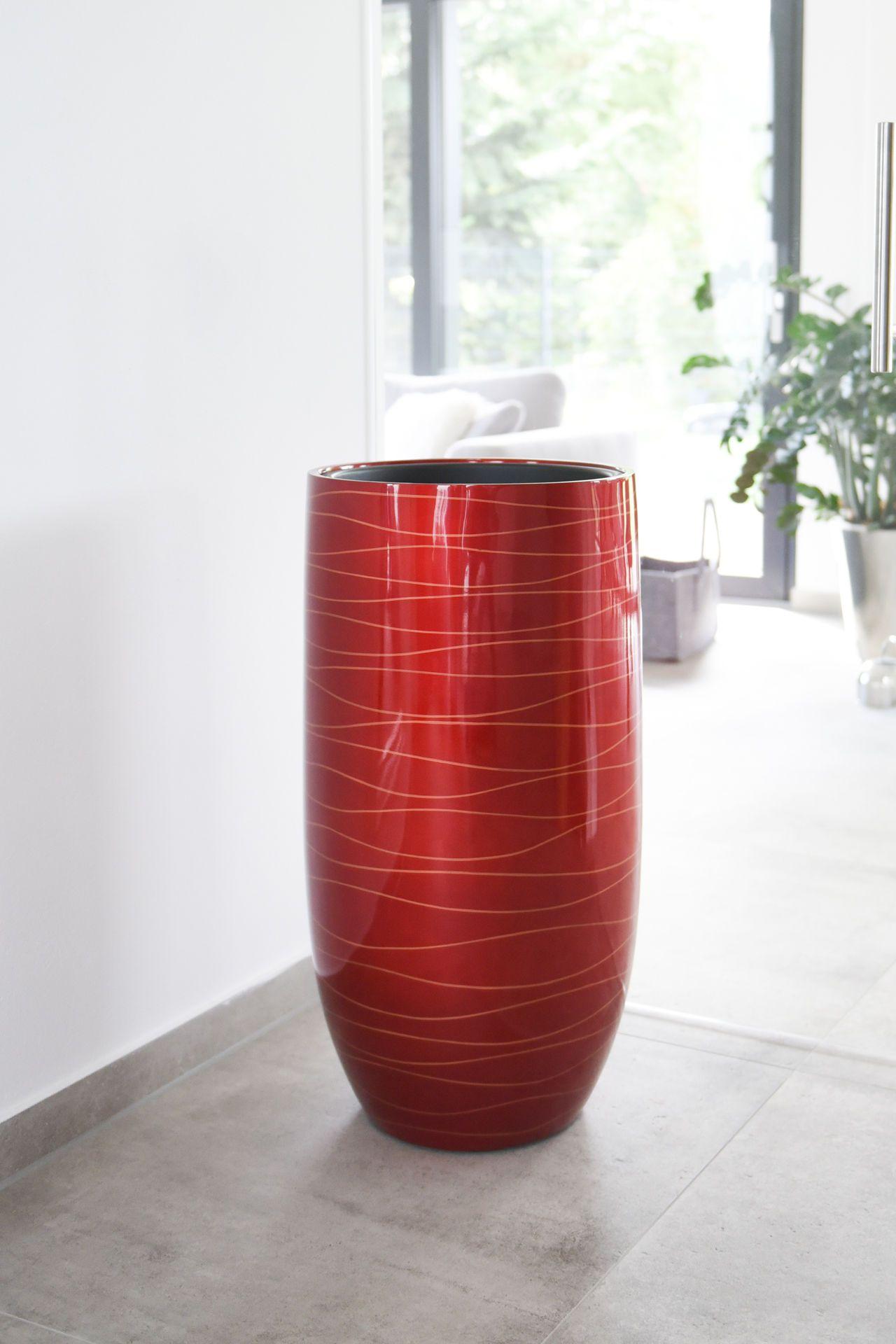 pflanzk bel blumenk bel exklusiv fiberglas asconia rot. Black Bedroom Furniture Sets. Home Design Ideas