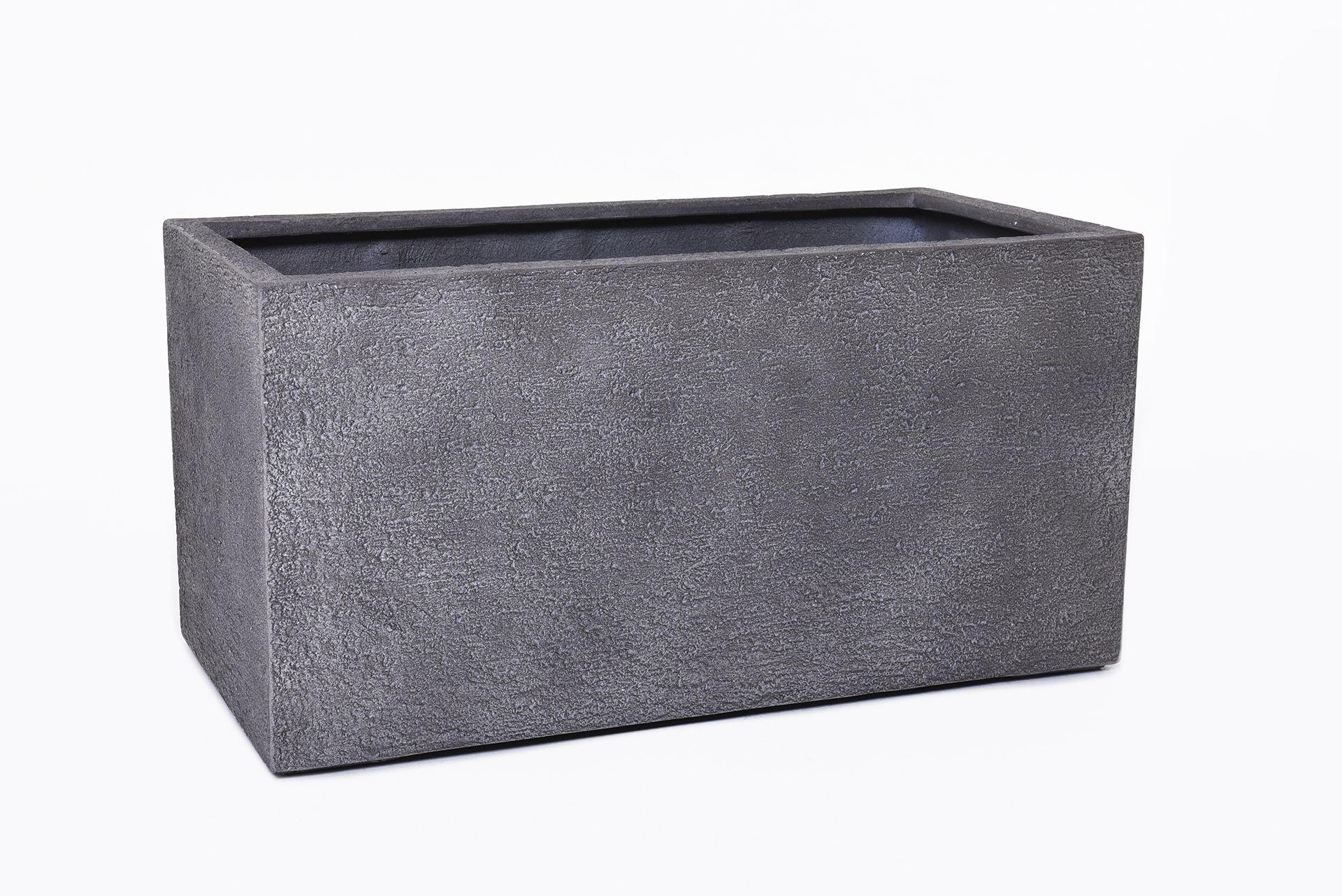 pflanzk bel pflanztrog fiberglas steinoptik maxi 80 cm grau ebay. Black Bedroom Furniture Sets. Home Design Ideas
