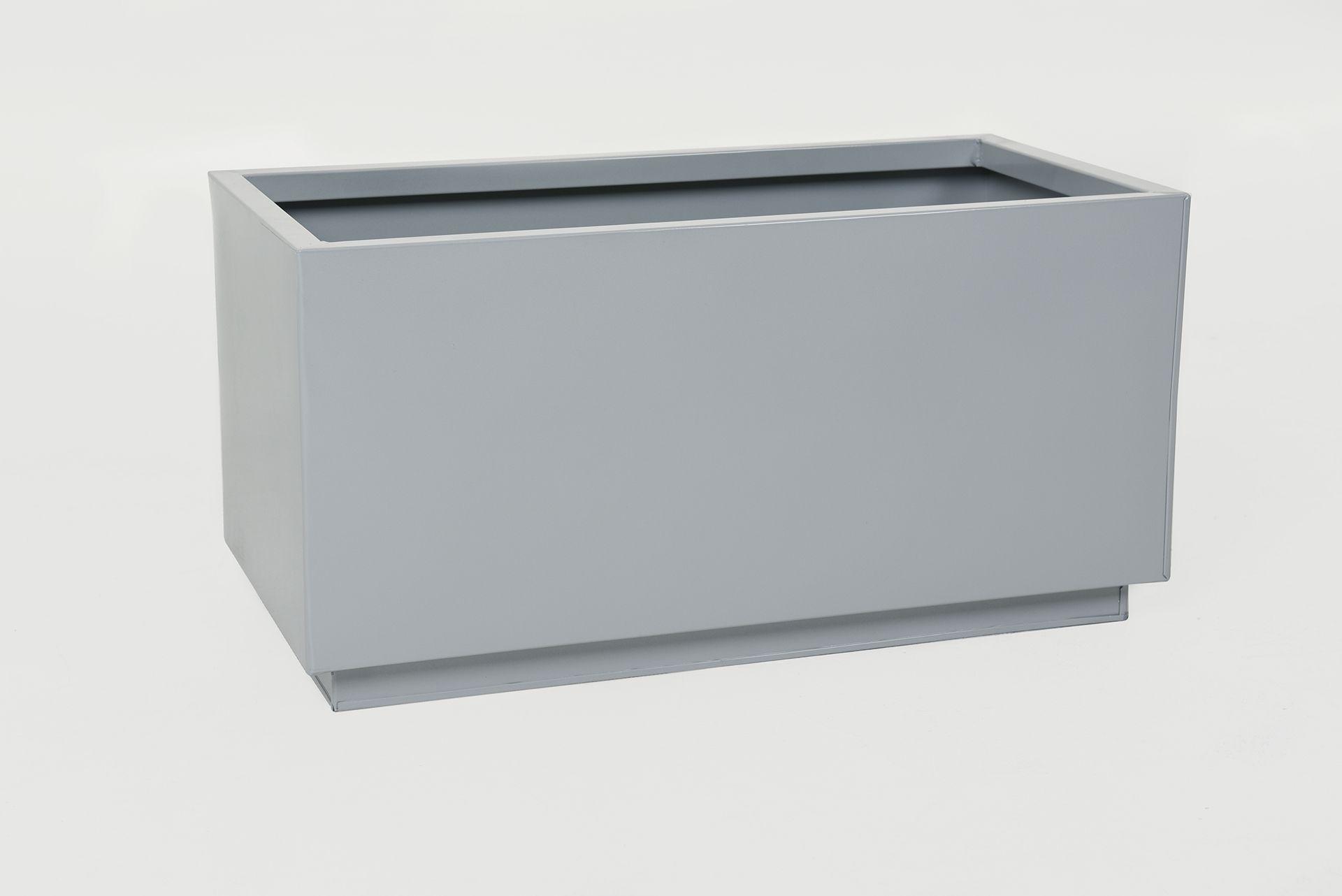 pflanzk bel pflanztrog pulverbeschichtetes stahlblech maxi 60 cm grau ebay. Black Bedroom Furniture Sets. Home Design Ideas