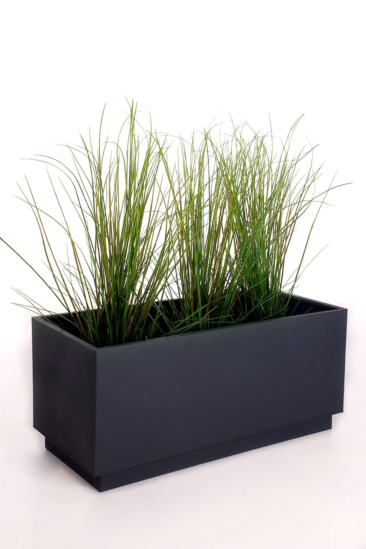blumenk bel pflanzk bel pflanzgef e aus fiberglas block anthrazit 60x60x60cm ebay. Black Bedroom Furniture Sets. Home Design Ideas