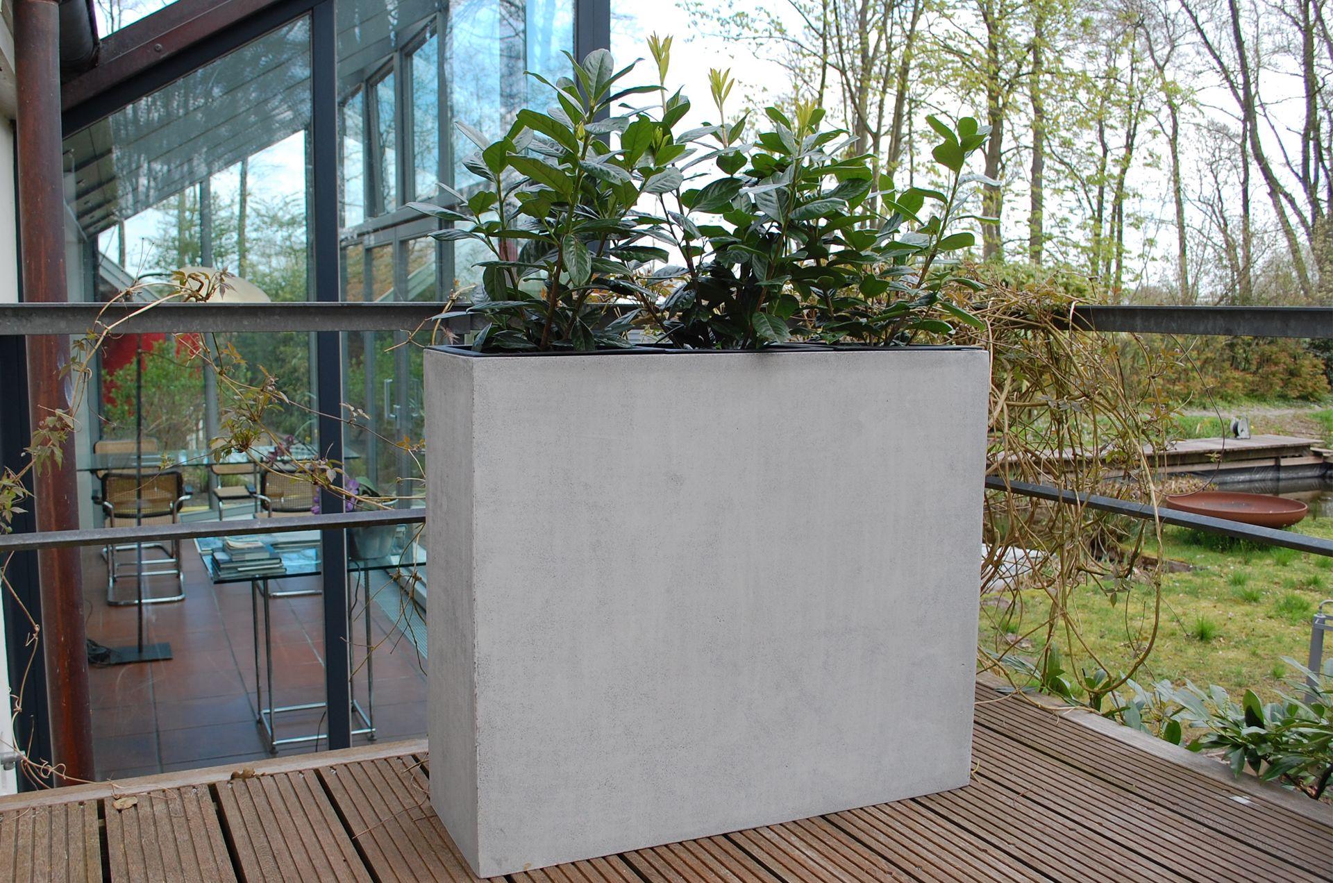 Pflanzkubel Raumteiler Sichtschutz Elemento Aus Fiberglas Beton