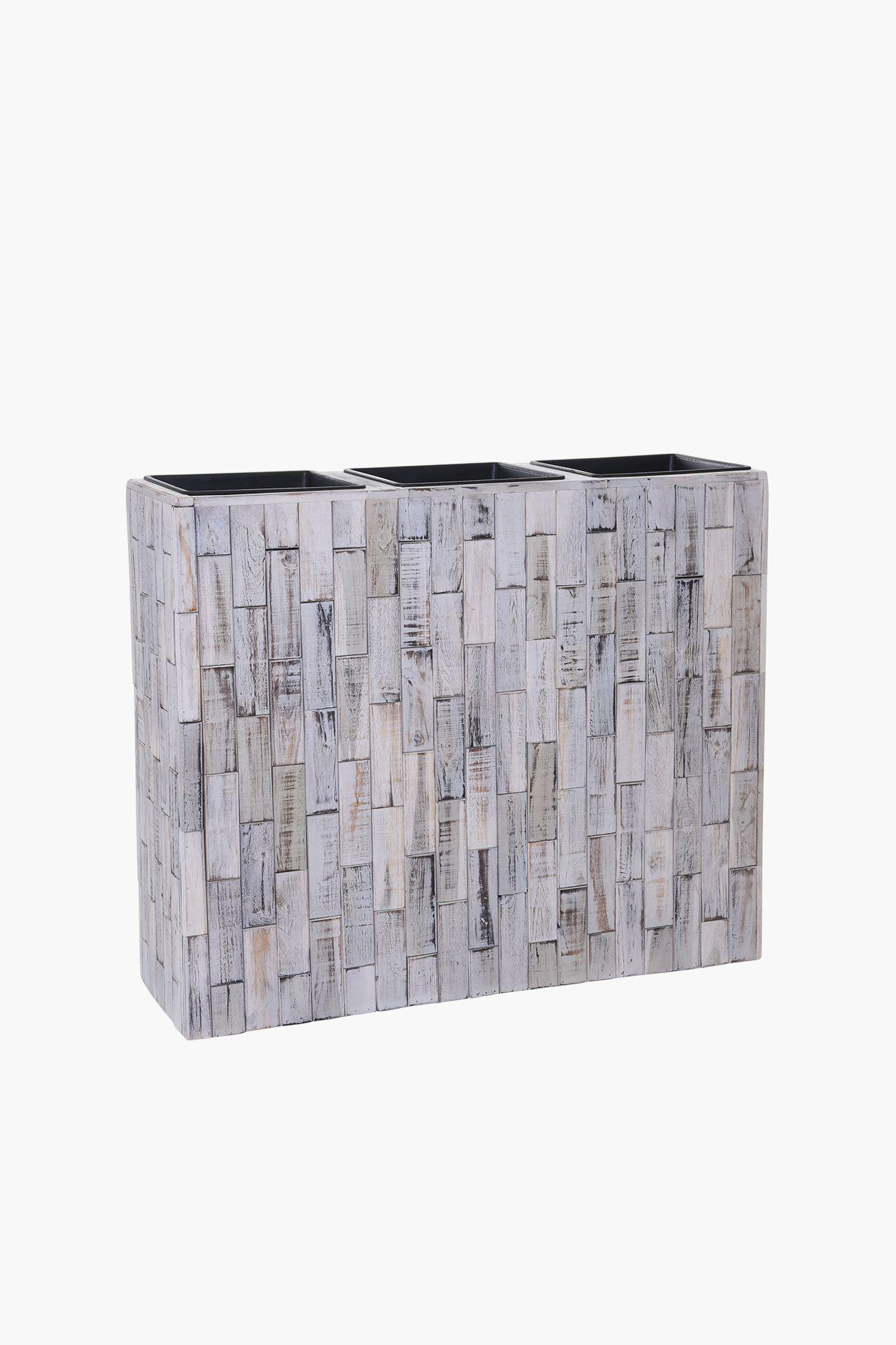 pflanzk bel raumteiler recycling holz elemento shabby chic wei 90 cm breit ebay. Black Bedroom Furniture Sets. Home Design Ideas