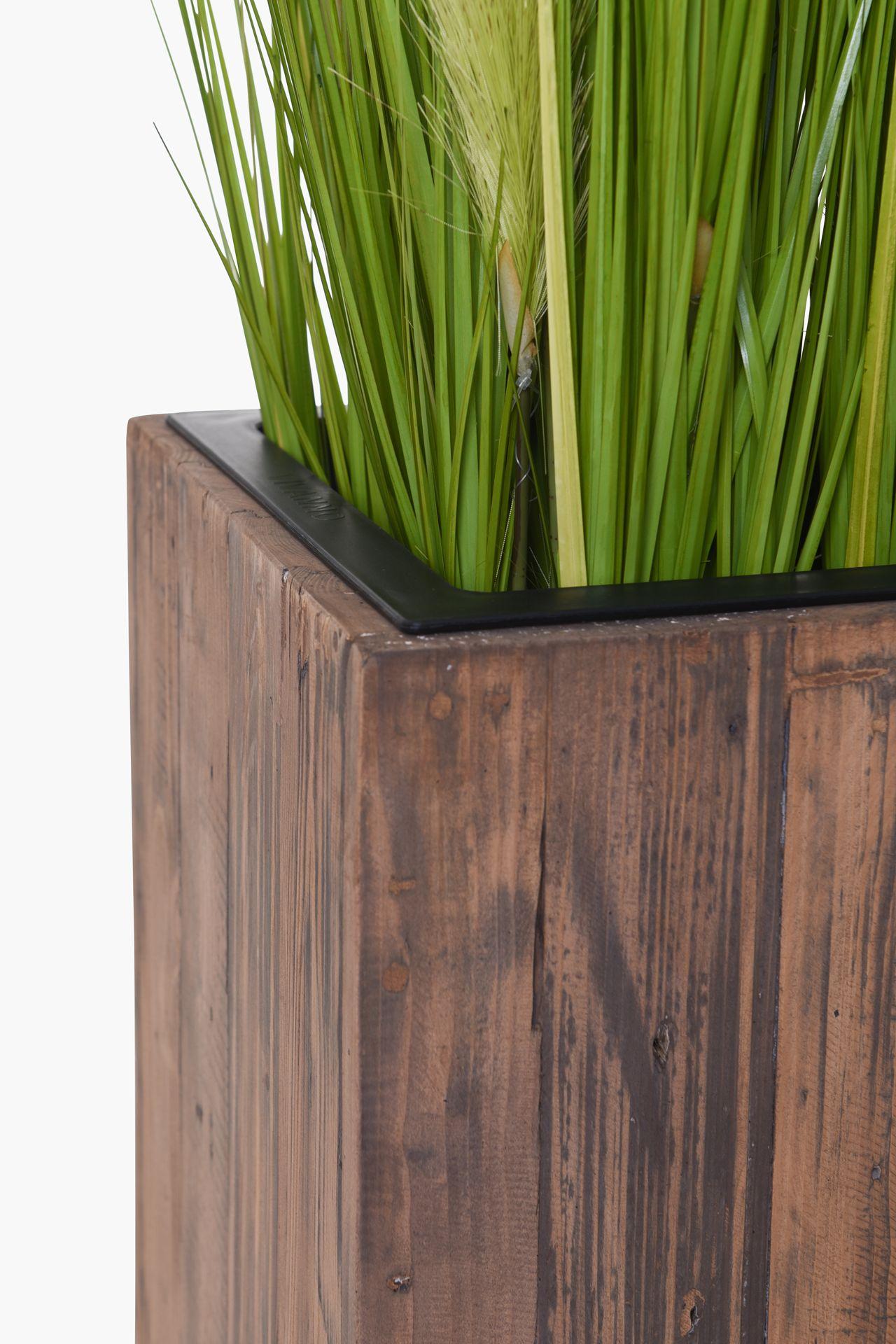 pflanzk bel raumteiler sichtschutz aus recycling holz elemento 90 antik braun 4260472225318. Black Bedroom Furniture Sets. Home Design Ideas