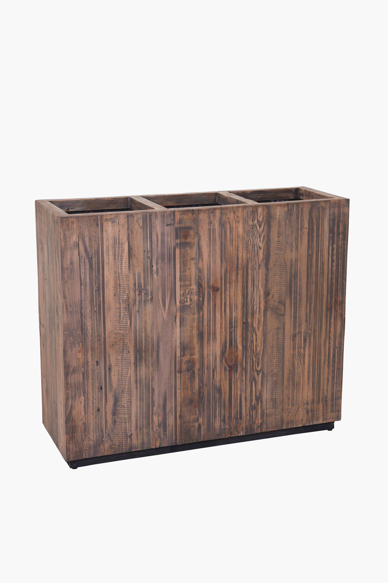 """Pflanzkübel Raumteiler Sichtschutz aus Recycling Holz """"Elemento"""