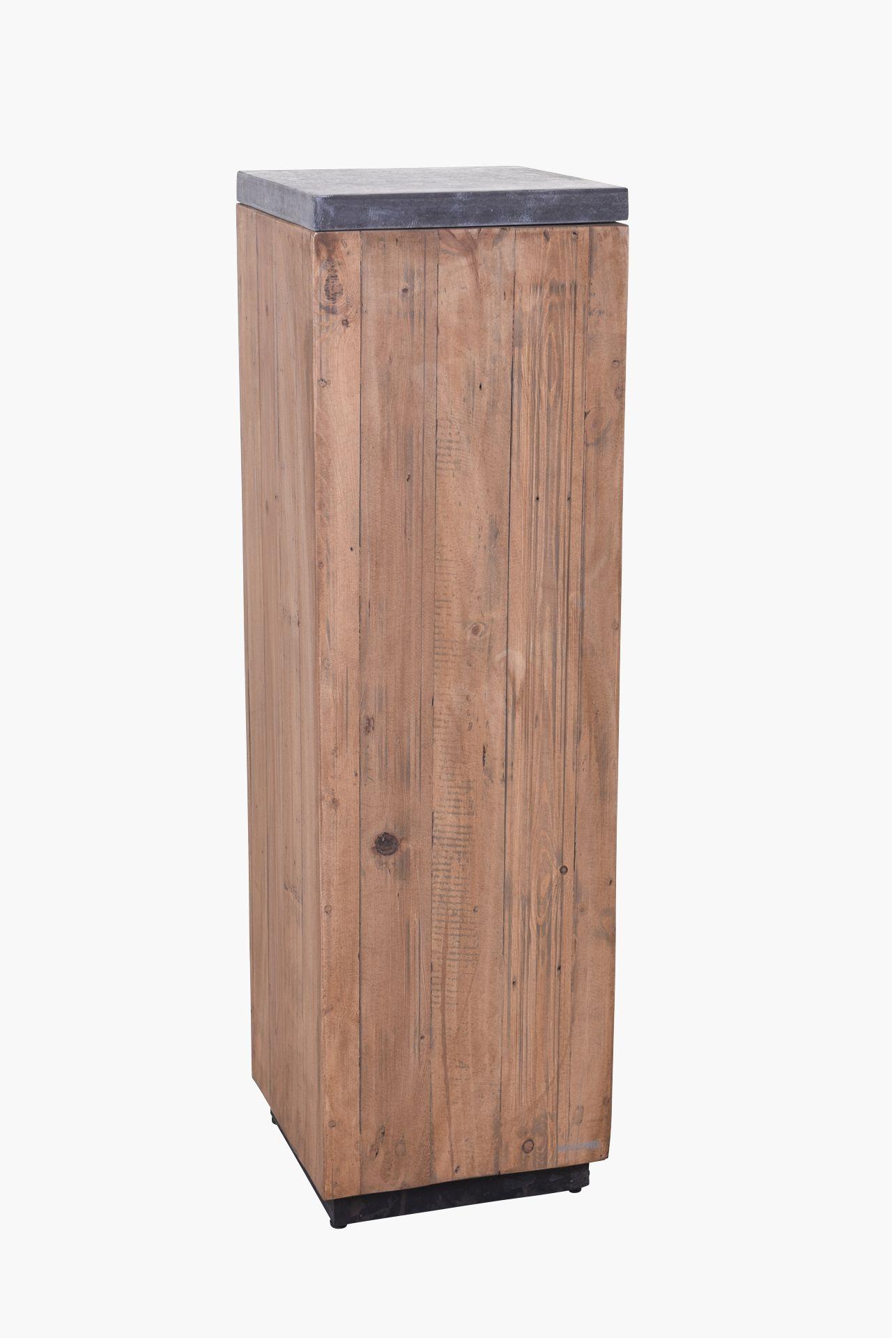 podest s ule dekos ule aus recycling holz 100 cm hoch. Black Bedroom Furniture Sets. Home Design Ideas