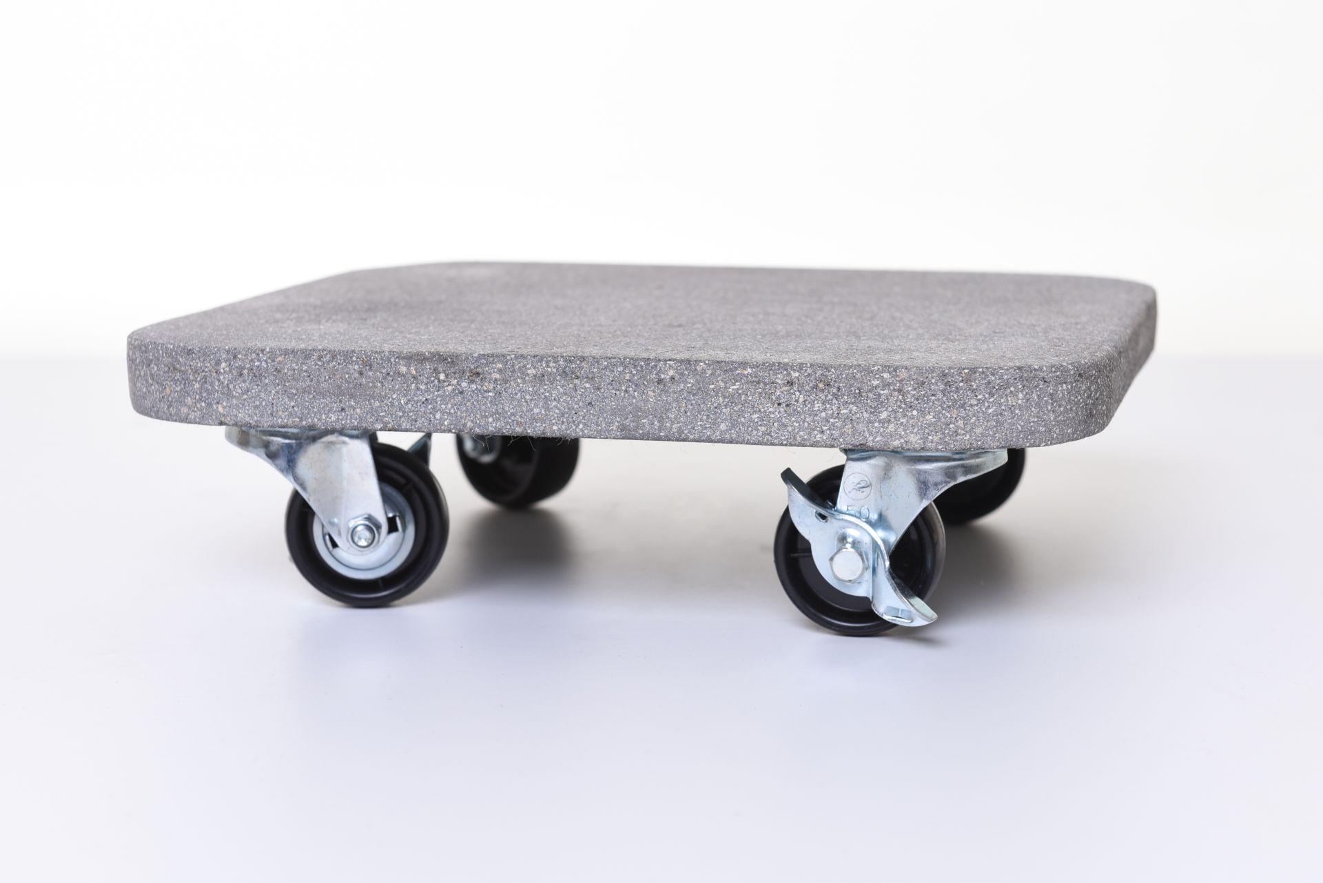 untersetzer mit rollen pflanzenroller eckig kunststein movo 29 x 29 cm grau ebay. Black Bedroom Furniture Sets. Home Design Ideas