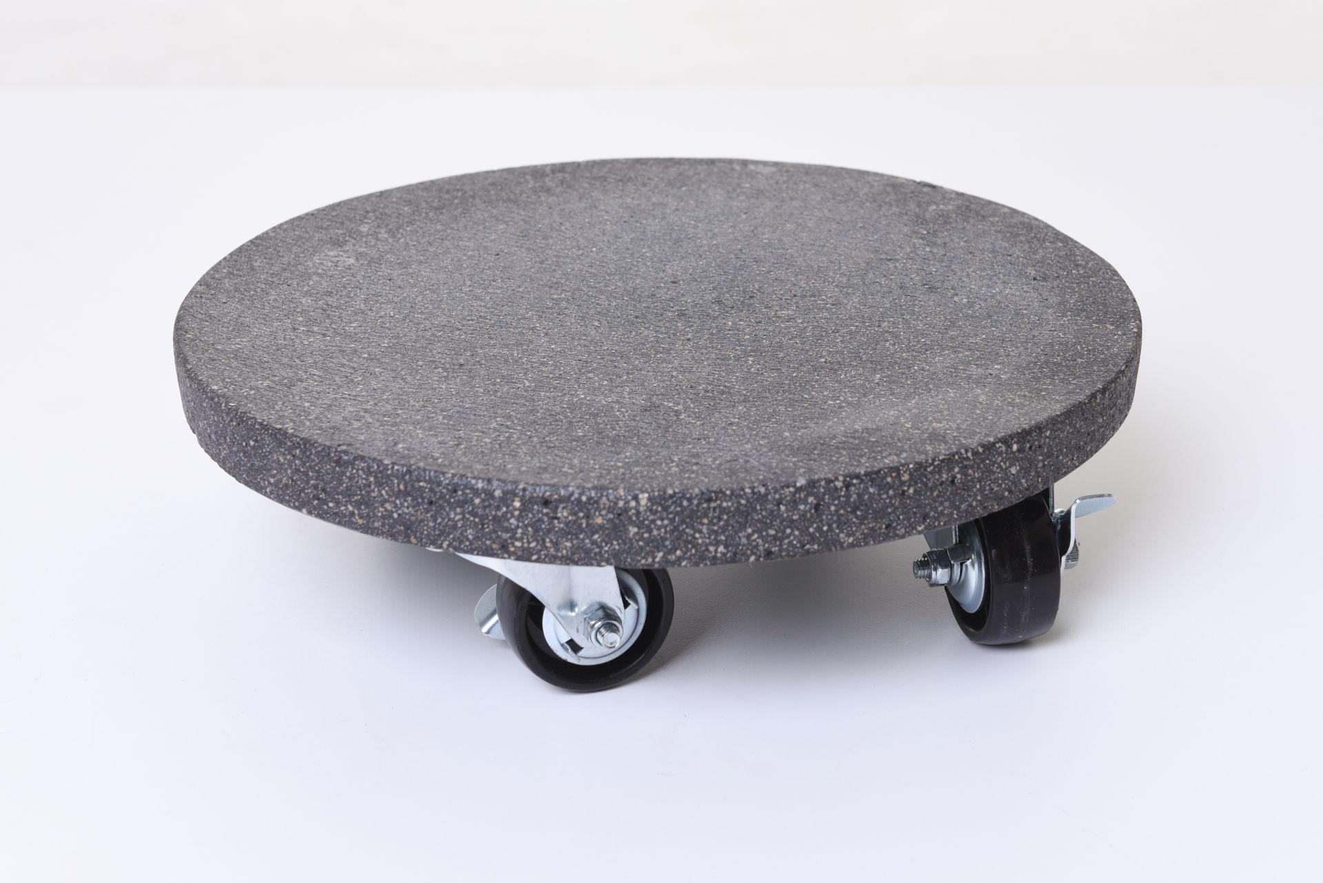 untersetzer mit rollen rund kunststein movo 29 cm anthrazit ebay. Black Bedroom Furniture Sets. Home Design Ideas