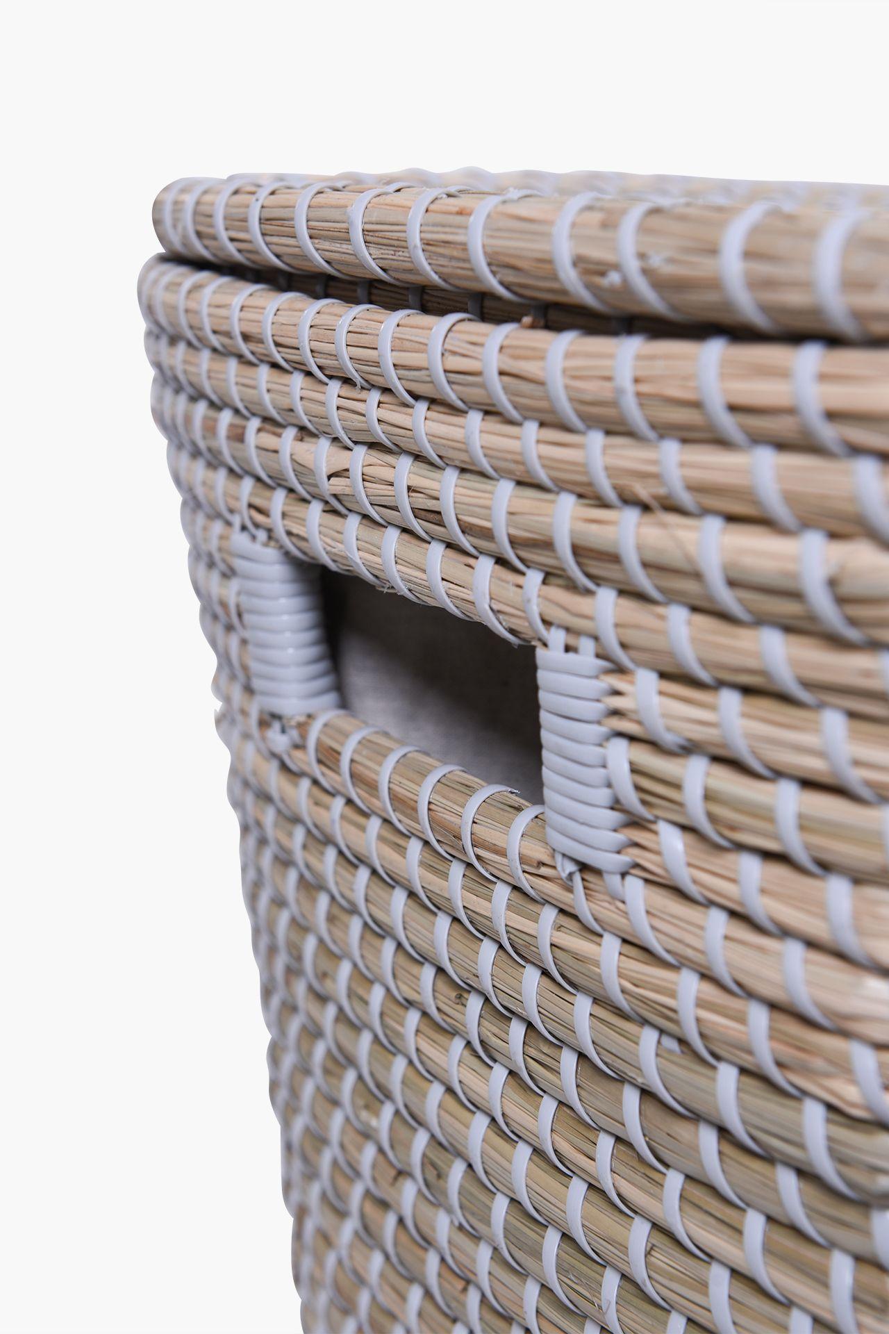 """Wäschekorb Wäschebox Wäschesammler Korb Seegras""""Home"""" 43 cm hoch Natur Grau eBay ~ 18001155_Wäschekorb Wasserhyazinthe Groß"""
