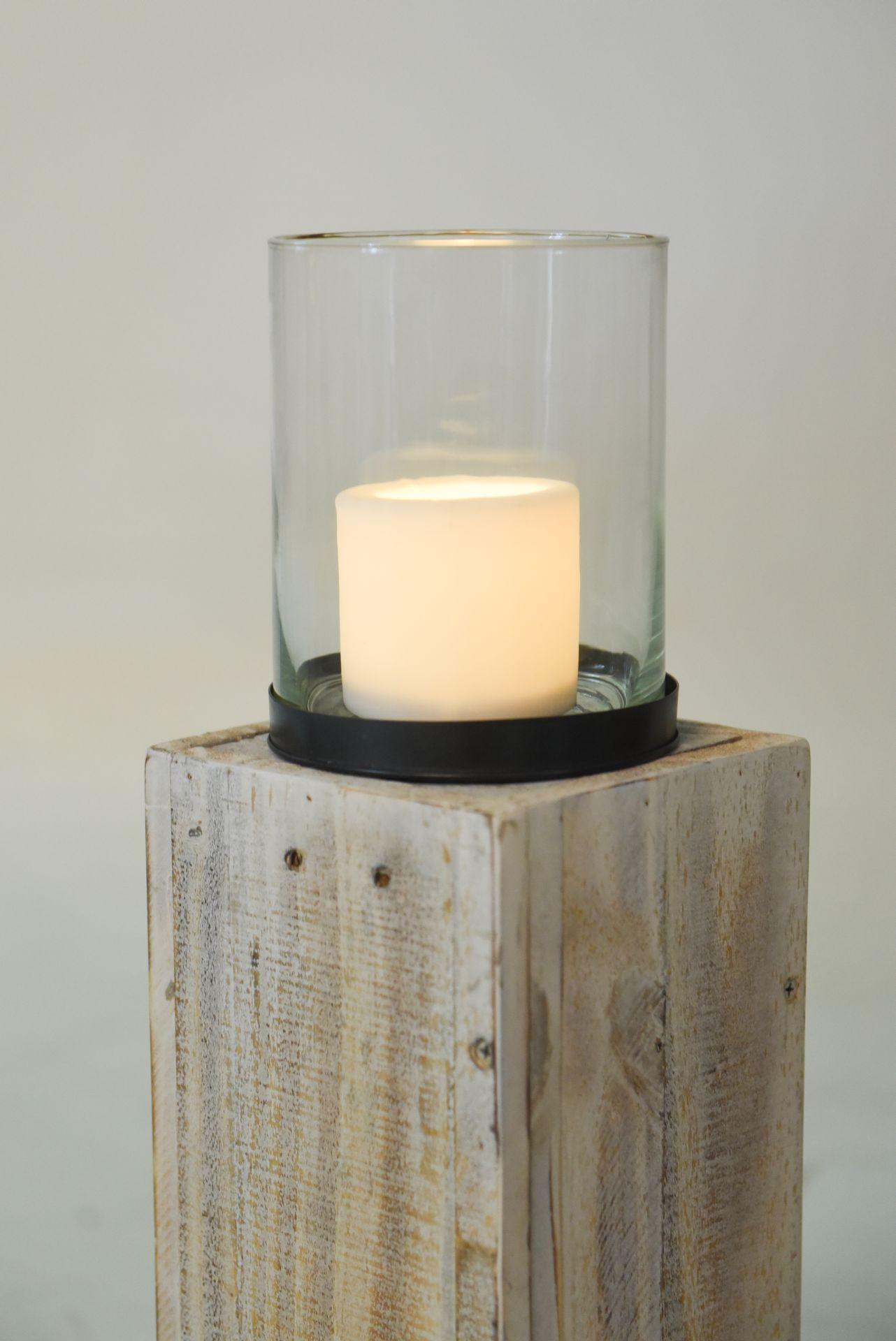 windlicht windlichts ule recycling holz lumira 60 cm. Black Bedroom Furniture Sets. Home Design Ideas