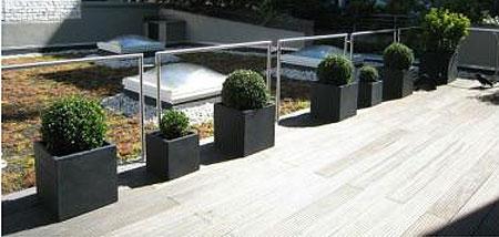 Der Hit Des Sommers: Pflanzkübel Für Dachterrasse Und Balkon ... Pflanzkubel Faserzement Balkon