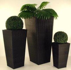 Rattan Blumenkübel pflanzkübel im winter welches material hält die witterung aus