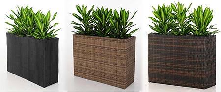 pflanzkubel polyrattan, pflanzkübel aus polyrattan: neue farben und formen » pflanzkübel, Design ideen