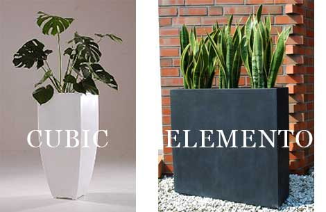 Blumenkübel CUBIC und ELEMENTO