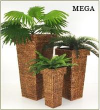 Pflanzkübel aus Wasserhyazinthe: Mage-Design