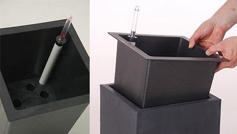Mit Bewässerung: Neuartige Kunststoffeinsätze Für Blumenkübel Und ... Blumentopfe Mit Wasserspeicher