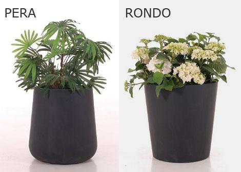Runde Pflanzkübel, Modell Pera und Rondo