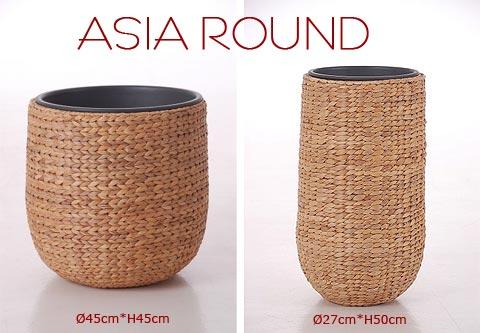 Blumenkübel Asia Round