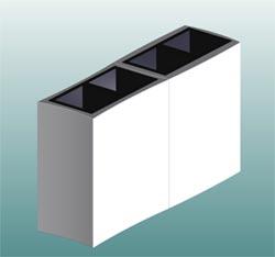Blumenkübel als Raumteiler: 3d-Modell-Entwurf