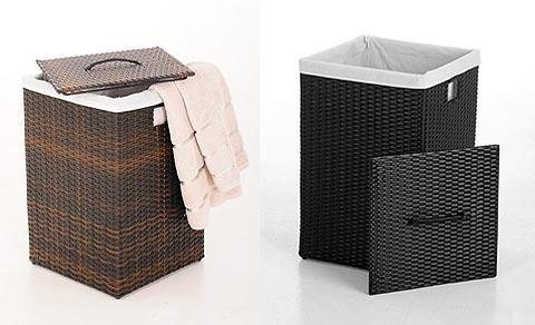 Wäschekorb aus Polyrattan