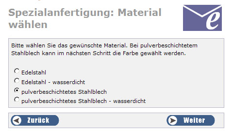 Pflanzkübel-Spezialanfertigung: Material-Wahl