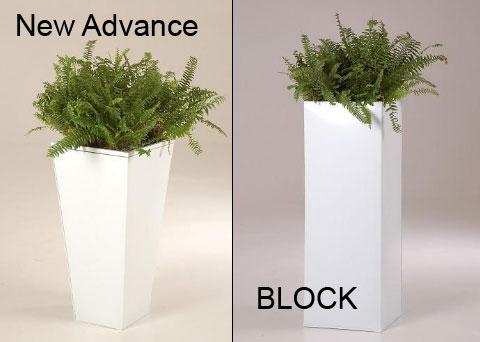 Pflanzkübel New Advance und Block in weiß