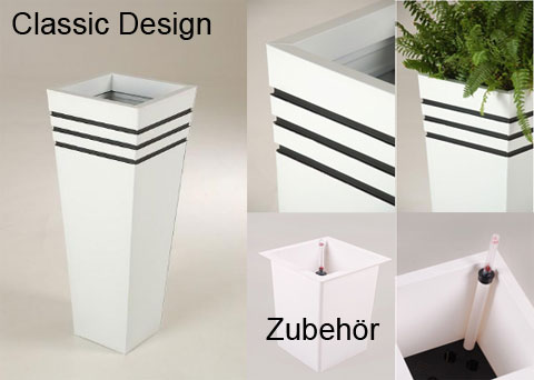 Pflanzkübel Classic Design in weiß
