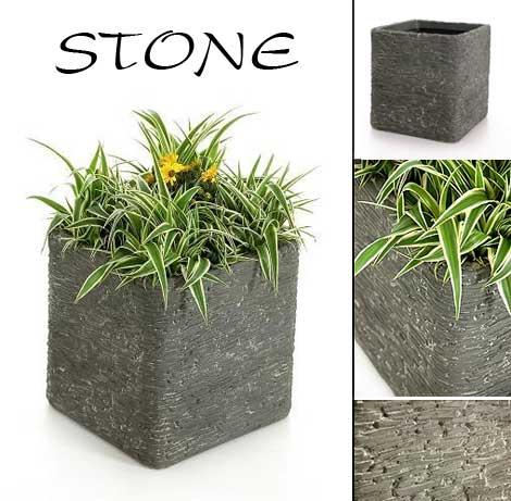 neu pflanzk bel stone aus fiberglas mit echtem. Black Bedroom Furniture Sets. Home Design Ideas
