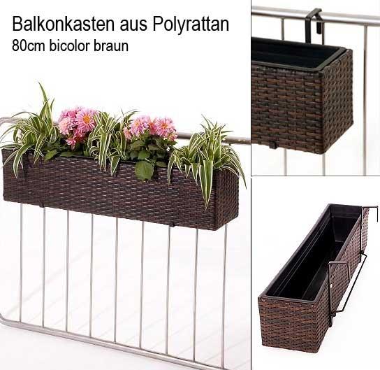 Neu im Shop: Balkonkästen aus Polyrattan, auch für die Fensterbank ...