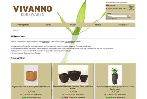 VIVANNO - der neue Korbwaren-Shop