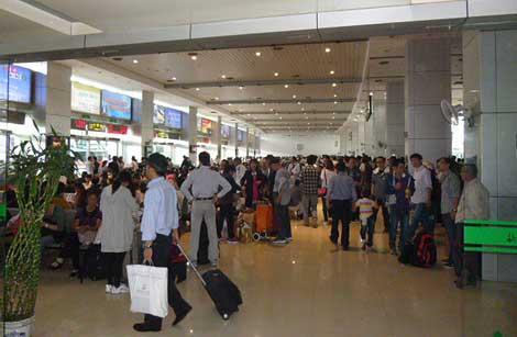 Viele Reisende während der Herbstfeiertage