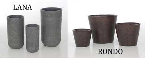 Pflanzkübel LANA und RONDO aus Faserbeton
