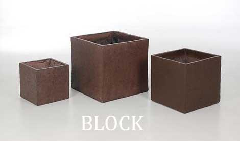 Pflanzkübel BLOCK aus Faserbeton