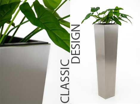 Blumenkübel CLASSIC aus Edelstahl