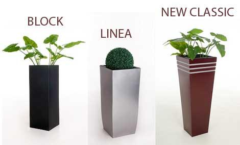 Blumenkübel BLOCK, LINEA, NEA, NEW CLASSIC aus Zink