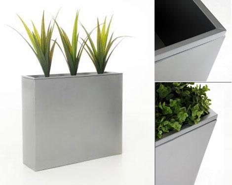 Raumteiler Elemento aus Zink – jetzt auch in Silber » Pflanzkübel ...