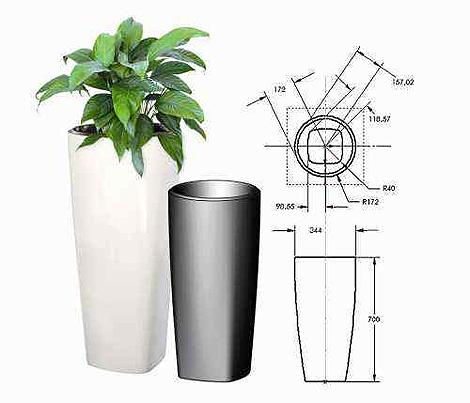 Vom CAD--Modell zum Blumenkübel