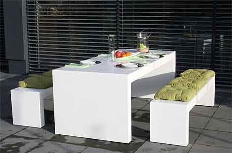 supermoderne gartenm bel aus faserbeton und fiberglas. Black Bedroom Furniture Sets. Home Design Ideas