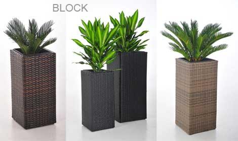 Blumenkübel aus Polyrattan: Mega, Classic und Block jetzt auch ...