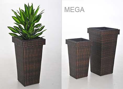 Blumenkübel MEGA aus Polyrattan