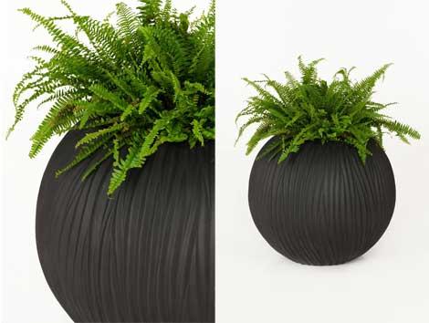 Pflanzkübel aus Fiberglas, rund