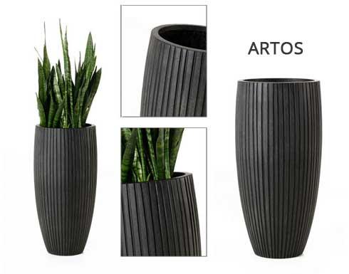 Exklusive Pflanzkübel pflanzkübel aus fiberglas in anthrazit pflanzkübel ae trade