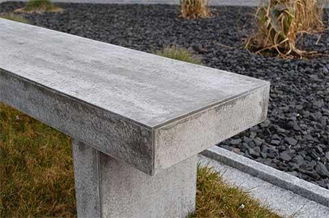 Sitzbank-Beton